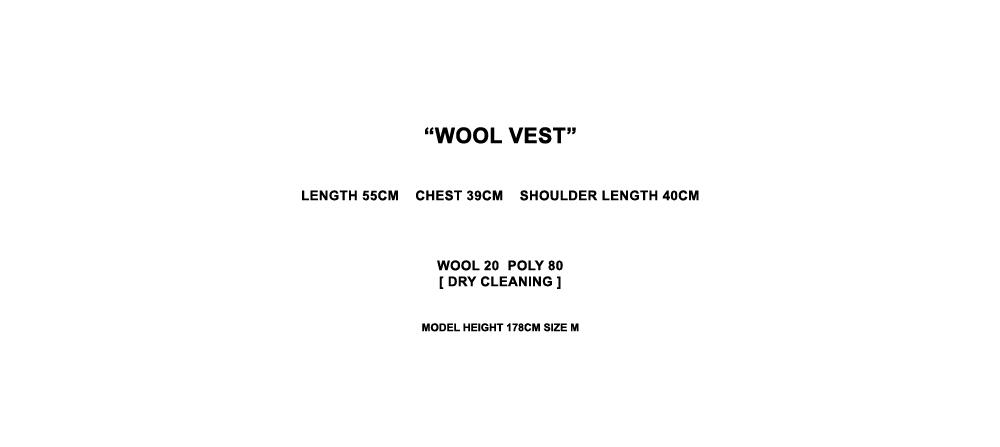 모어올레스(MORE OR LESS) WOOL VEST - DEEP KHAKI